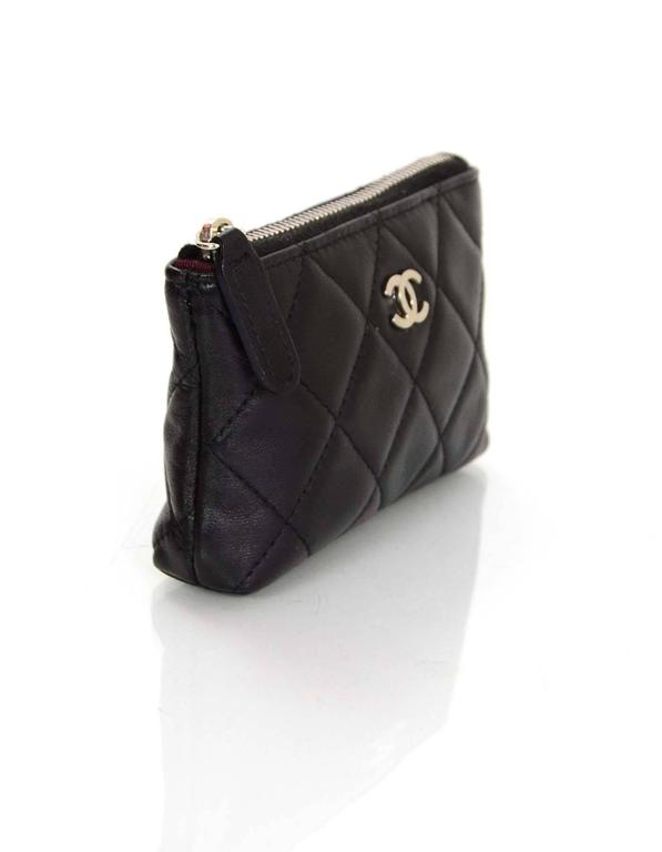 498a09144522 Chanel Black Quilted Coin Purse Key Ring Made In: Italy Year of Production:  2011