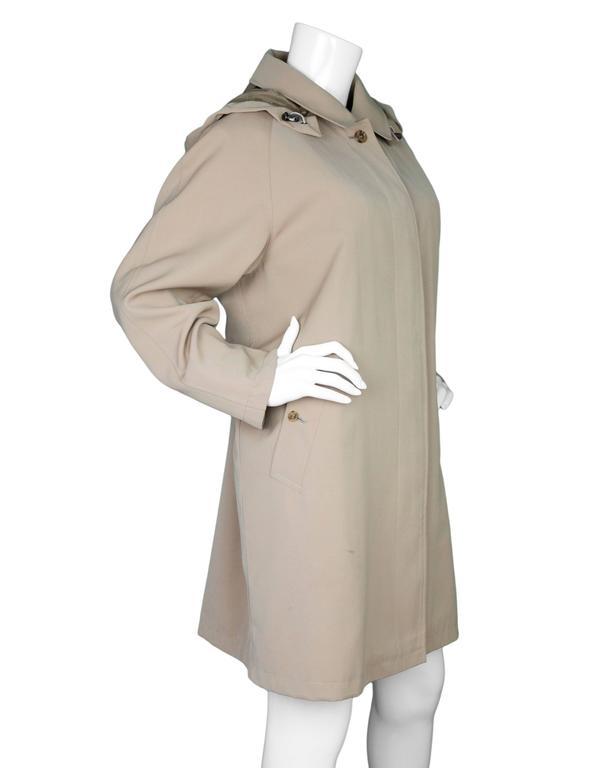 Burberry London Tan Trench Coat w/ Detachable Hood sz XL 4