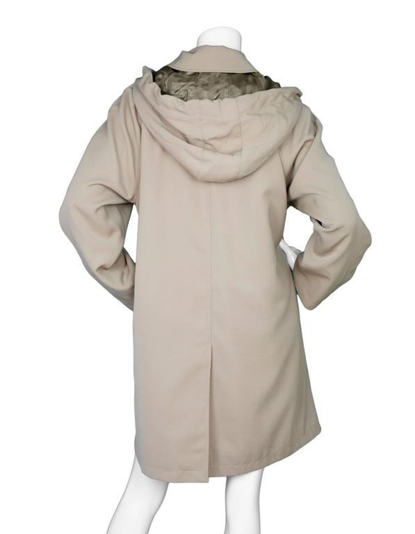 Burberry London Tan Trench Coat w/ Detachable Hood sz XL 5