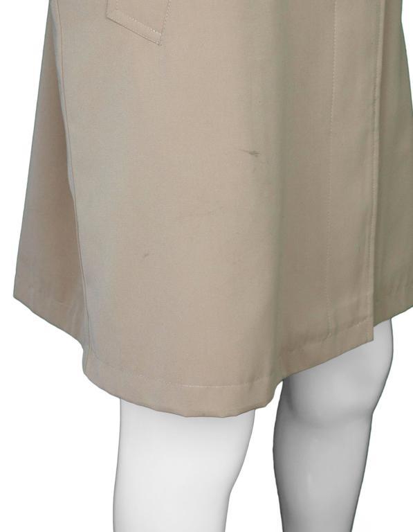 Burberry London Tan Trench Coat w/ Detachable Hood sz XL 6