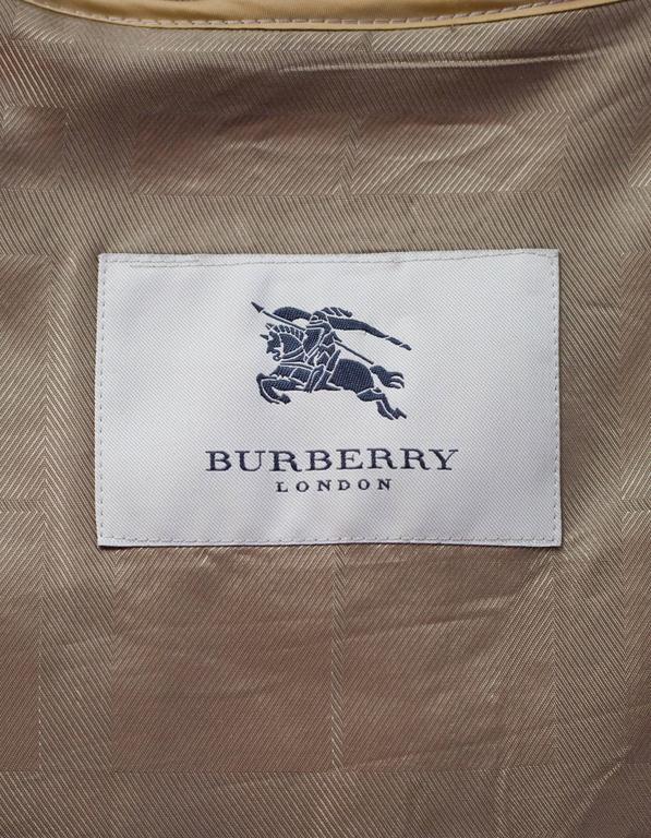 Burberry London Tan Trench Coat w/ Detachable Hood sz XL 9