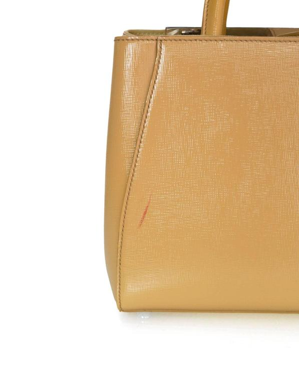 38dee392f9 ... discount code for womens fendi yellow patent leather petite 2jours satchel  crossbody bag for sale 2ba52