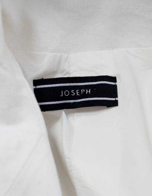 Joseph Ivory Linen Blazer Sz M 4