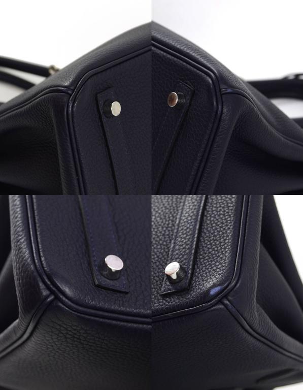 Black Hermes 2016 Navy Blue Bleu Nuit Togo Leather 30cm Birkin Bag