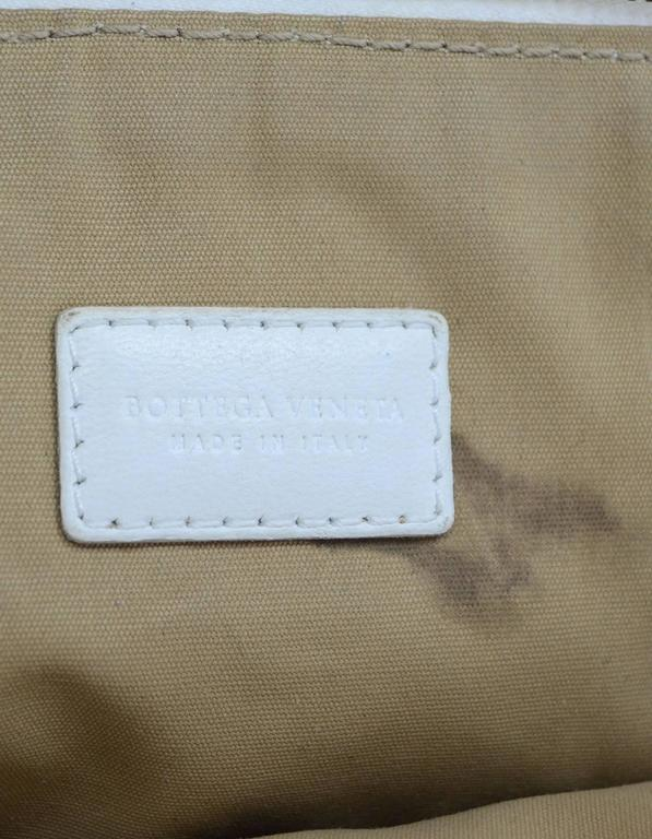 Bottega Veneta White Woven Intrecciato Leather Cosmetic Bag 7