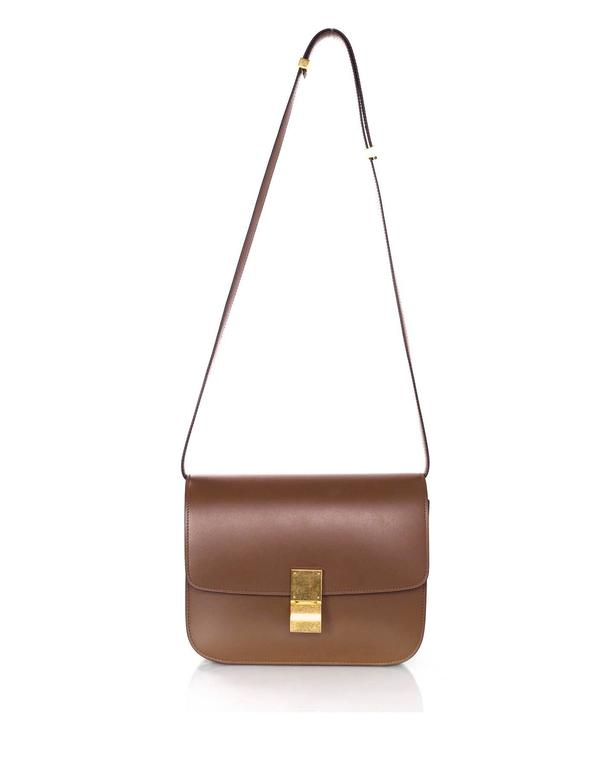Celine Camel Leather Medium Box Bag rt. $3,900 3