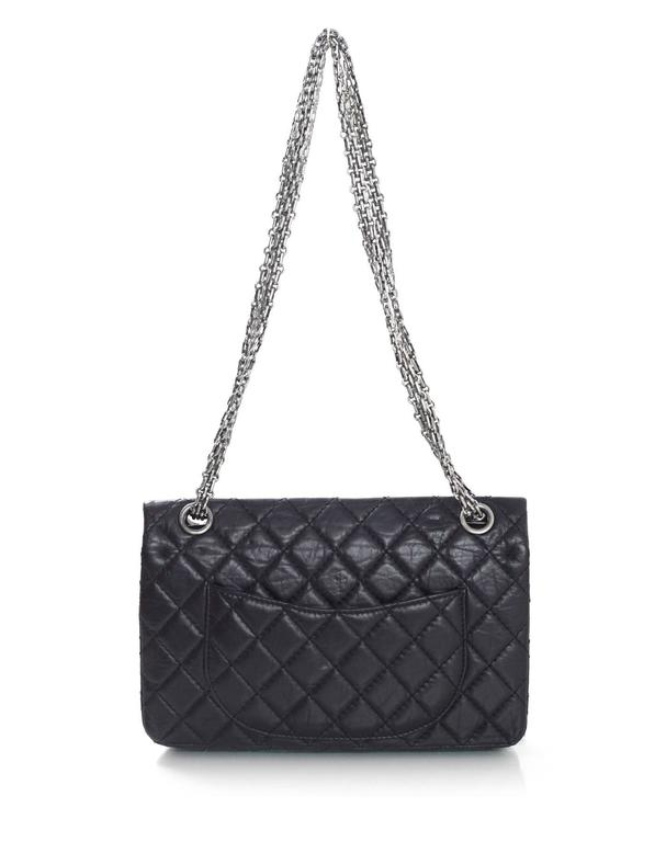 Chanel Rare Collector's Black CC Lucky Charm Reissue 2.55 Double Flap 225 Bag 4