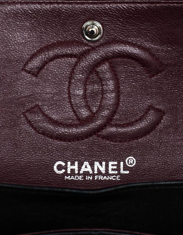 Chanel Rare Collector's Black CC Lucky Charm Reissue 2.55 Double Flap 225 Bag For Sale 4
