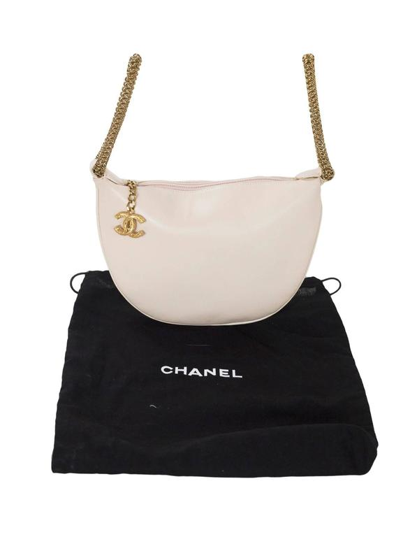 Chanel Blush LeDouble Chain Bracelet Wristlet Bag 9