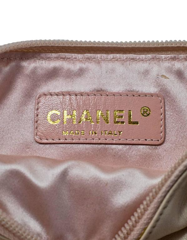Chanel Blush LeDouble Chain Bracelet Wristlet Bag 7
