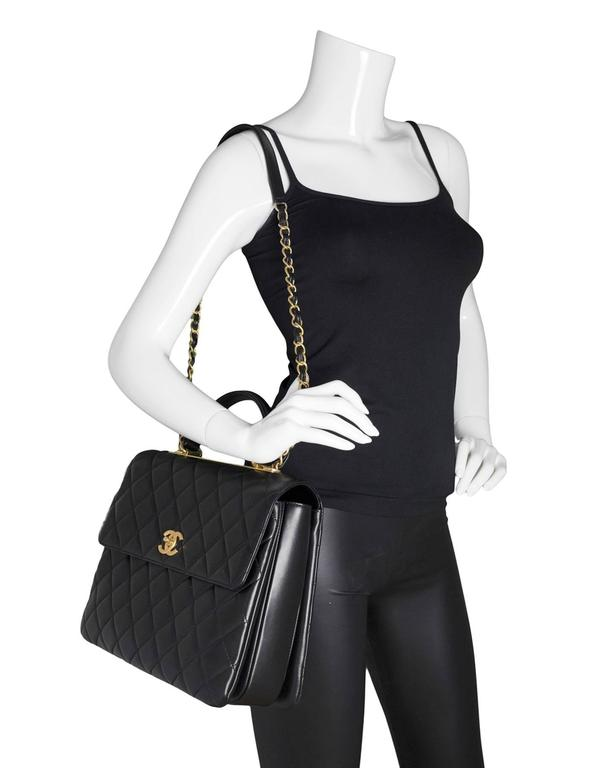 1bbf9b6e8cd0 Chanel Black Lambskin Quilted Large Trendy CC Flap Bag rt. $7,000 For Sale 6