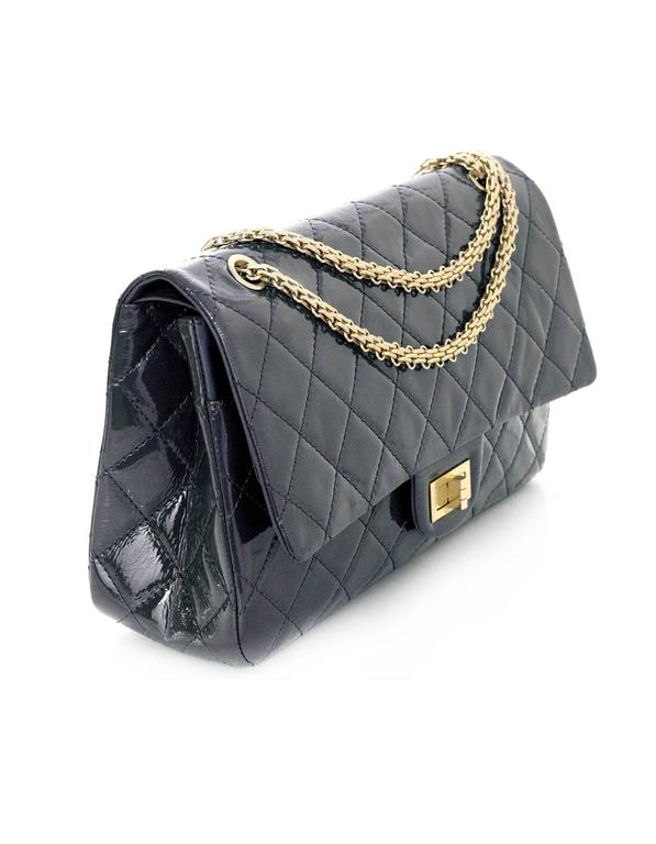 d976d993cf2a ... Chanel Grey Patent Leather Quilted 2 55 Reissue 227 Double Flap