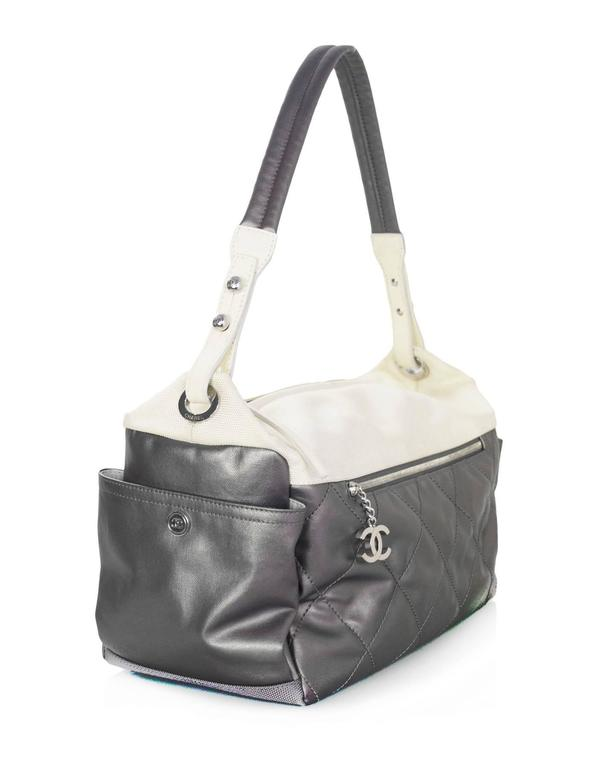 63137458b8 Chanel Silver and Ivory Paris-Biarritz Large Hobo Bag