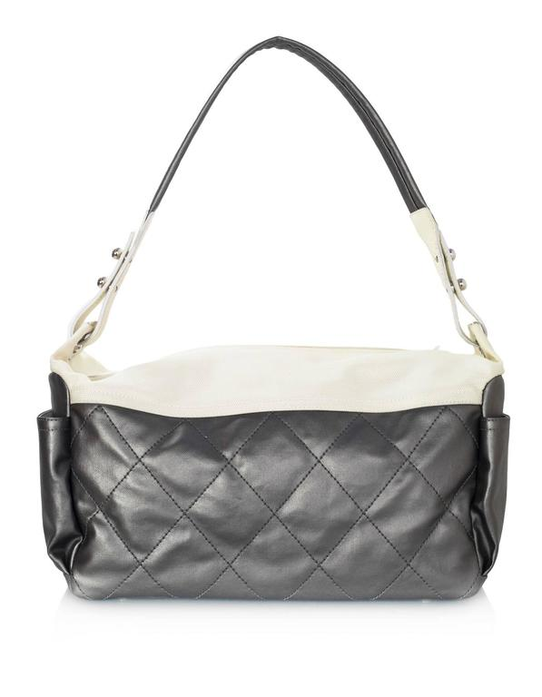 Chanel Silver and Ivory  Paris-Biarritz Large Hobo Bag 4