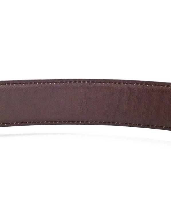 Women's Prada Brown Crocodile Belt sz 75 For Sale