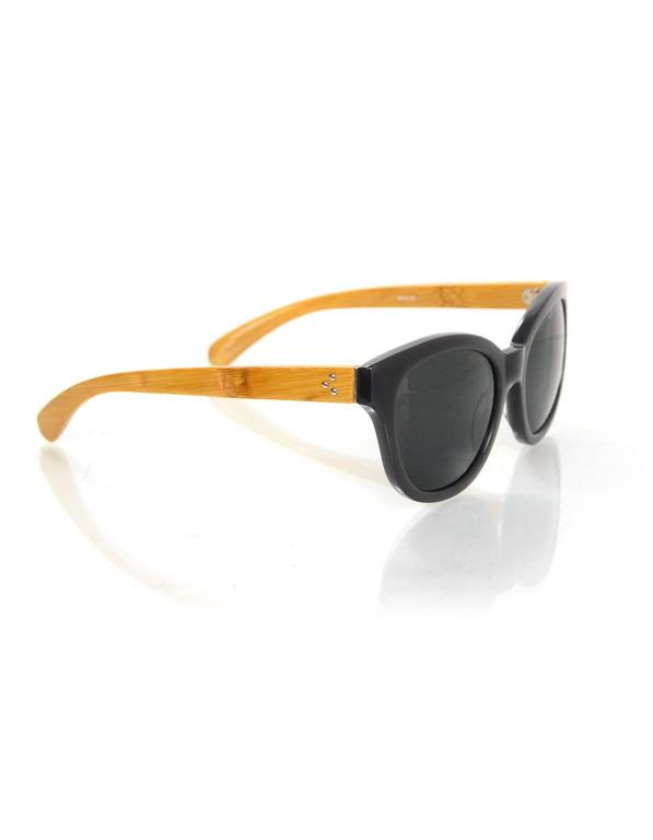 Linda Farrow Grey and Wood Sunglasses For Sale at 1stdibs