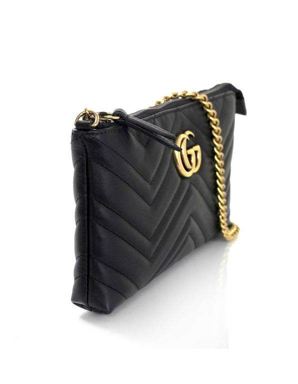 Gucci Black Marmont Mini Matelasse Crossbody Bag In Excellent Condition For New York