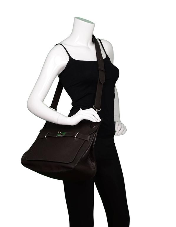 Hermes Brown Clemence 34cm Jypsiere Crossbody Messenger Bag For Sale 4