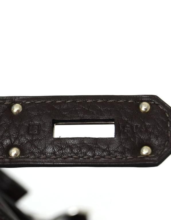 Hermes Brown Clemence 34cm Jypsiere Crossbody Messenger Bag For Sale 3