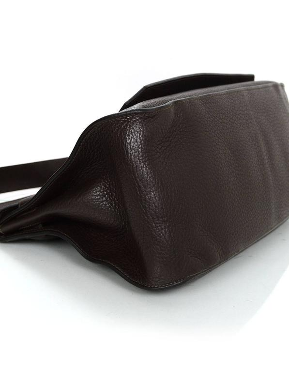 Hermes Brown Clemence 34cm Jypsiere Crossbody Messenger Bag In Excellent Condition For Sale In New York, NY