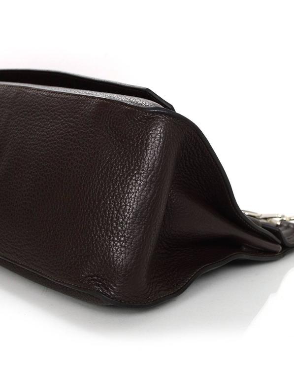 Women's or Men's Hermes Brown Clemence 34cm Jypsiere Crossbody Messenger Bag For Sale