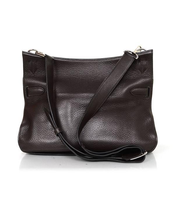 Black Hermes Brown Clemence 34cm Jypsiere Crossbody Messenger Bag For Sale