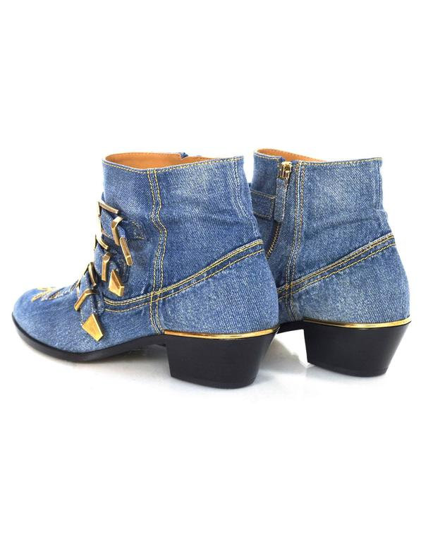 Chloe NEW Blue Denim Susanna Ankle Buckle Booties RT. $1,445 6