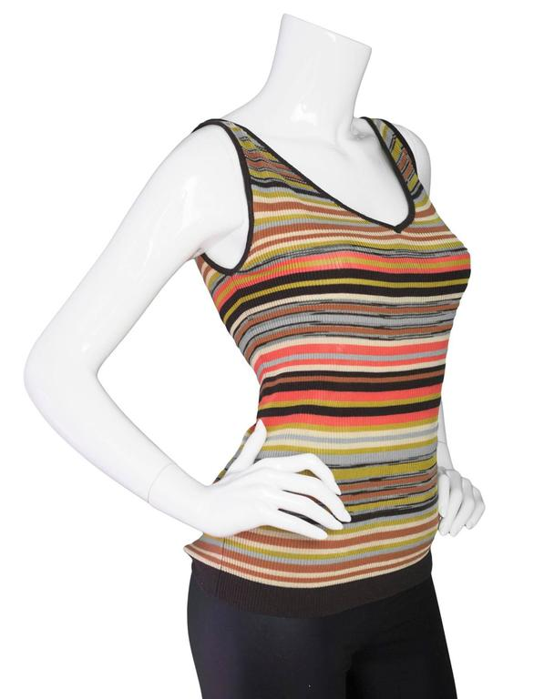 M Missoni Multi-Color V-Neck Top Sz 40 2