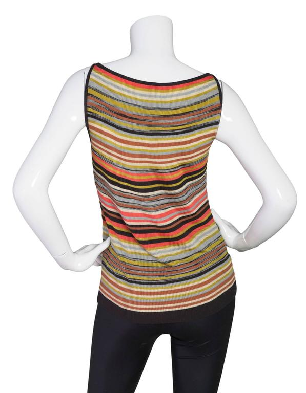 M Missoni Multi-Color V-Neck Top Sz 40 3