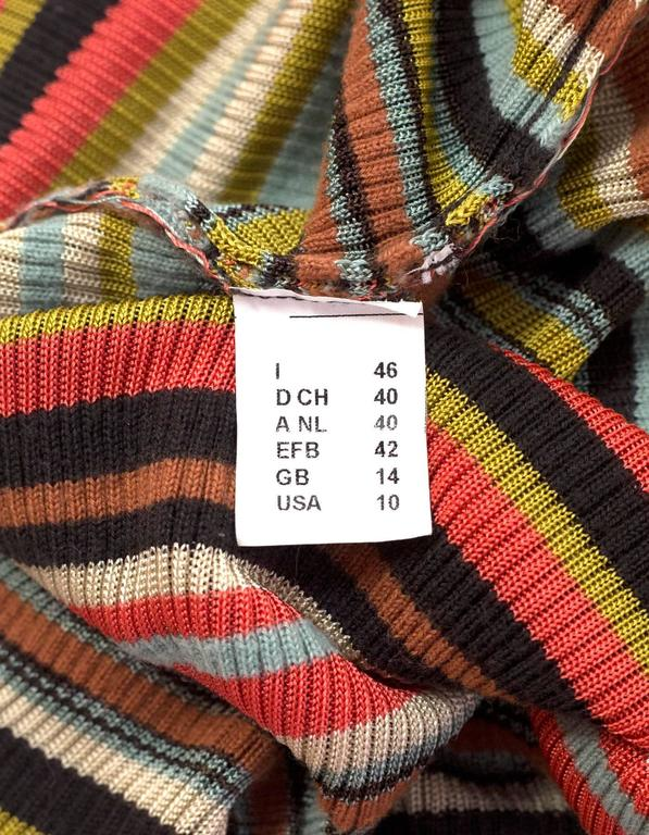 M Missoni Multi-Color V-Neck Top Sz 40 5