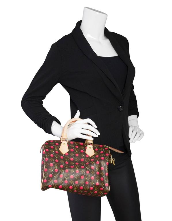 3f5613073e49ab Louis Vuitton Monogram Cherry Cerises Speedy 25 Bag Limited edition from  Spring/Summer 2005.