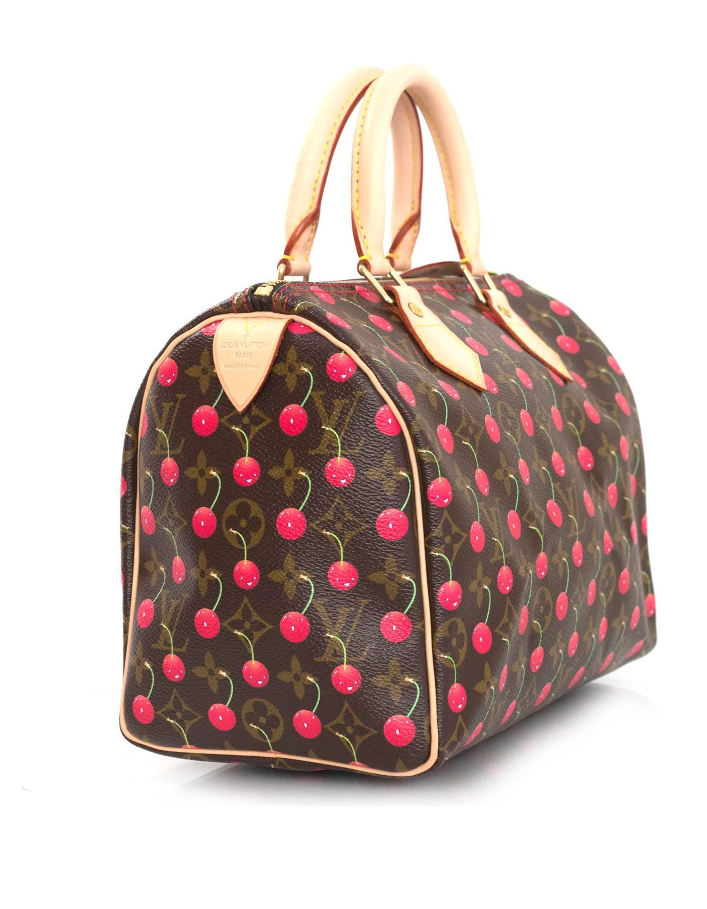 b5fd228c3f7b Louis Vuitton Limited Edition Monogram Cherry Cerises Speedy 25 Bag For  Sale at 1stdibs