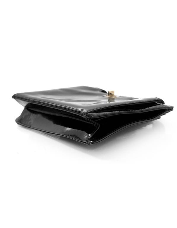 Chanel '90s Vintage Black Patent Leather Bag GHW 4