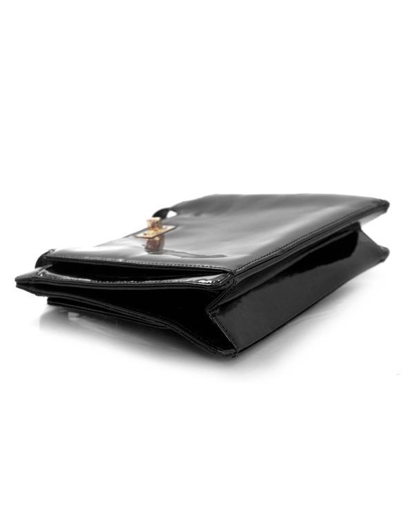 Chanel '90s Vintage Black Patent Leather Bag GHW 5
