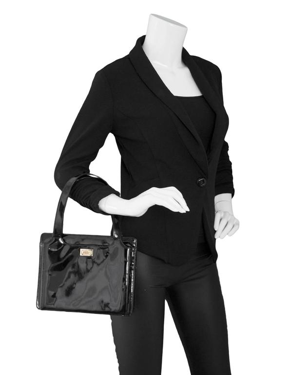 Chanel '90s Vintage Black Patent Leather Bag GHW 9