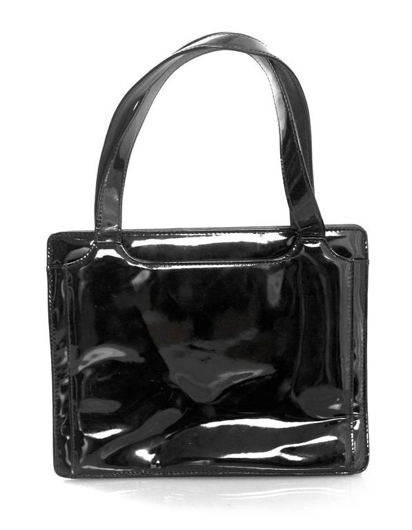 Chanel '90s Vintage Black Patent Leather Bag GHW 3