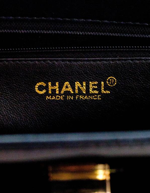 Chanel '90s Vintage Black Patent Leather Bag GHW 7