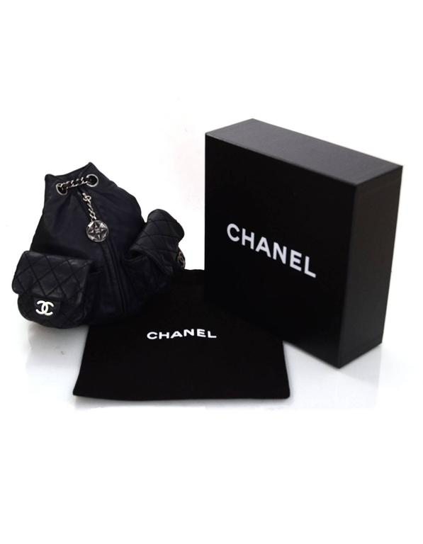 Chanel Black Leather Quilted Mini 'Backpack is Back' Bag For Sale 5