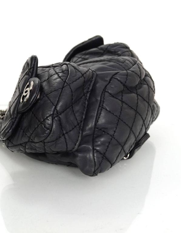 Chanel Black Leather Quilted Mini 'Backpack is Back' Bag 4