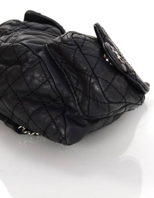 Chanel Black Leather Quilted Mini 'Backpack is Back' Bag 5