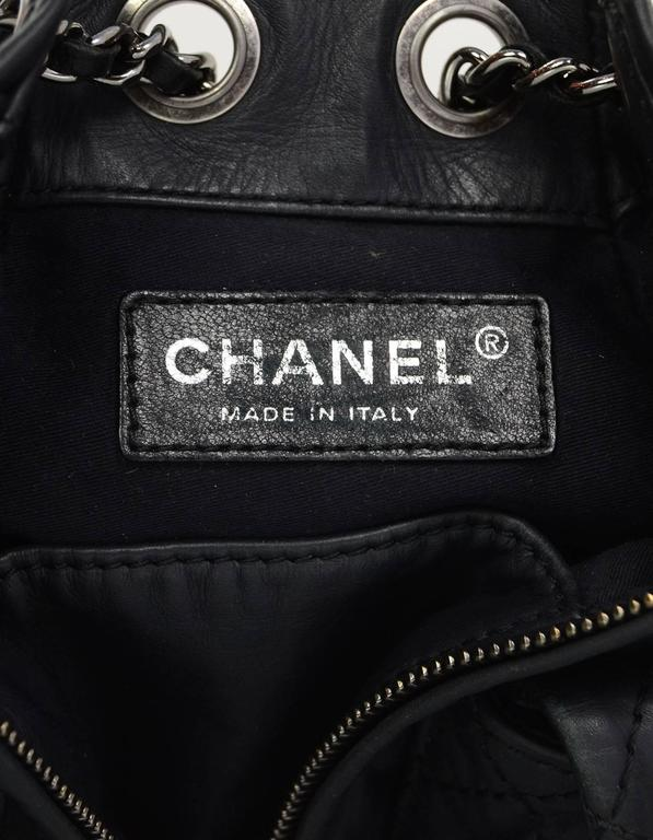 Chanel Black Leather Quilted Mini 'Backpack is Back' Bag For Sale 3