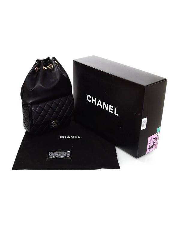 Chanel Black Lambskin Leather Small Paris In Seoul Backpack Bag For Sale 6