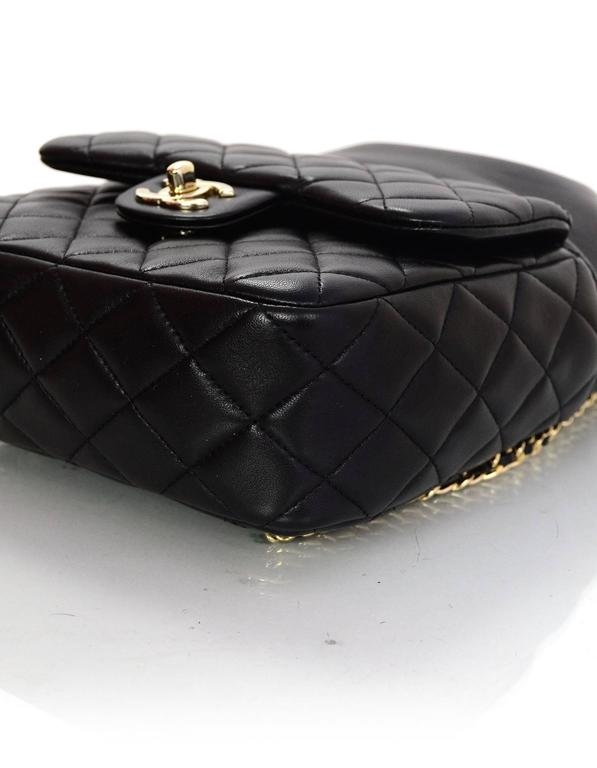 Chanel Black Lambskin Leather Small Paris In Seoul Backpack Bag For Sale 2