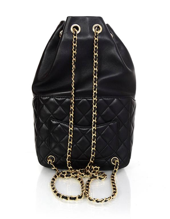 Women's Chanel Black Lambskin Leather Small Paris In Seoul Backpack Bag For Sale