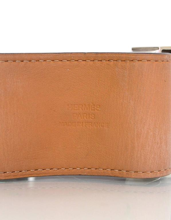 Hermes Tosca Leather Collier de Chien CDC Cuff Bracelet Sz L For Sale 1