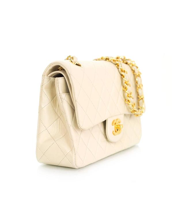 8b6de2289c64 Chanel Vintage Cream Quilted Lambskin Small 9