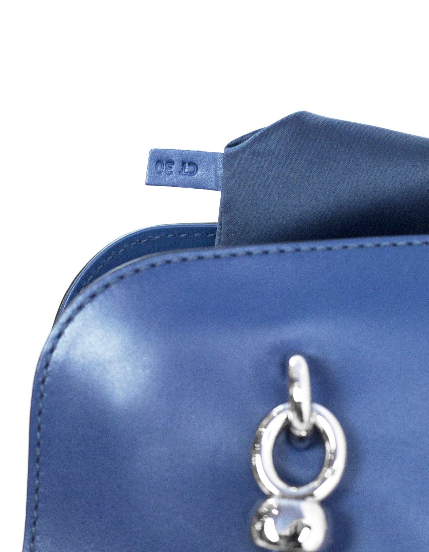 Tod\'s Blue Sella Bauletto Piccolo Satchel Bag w/ Strap rt. $1,595 ...