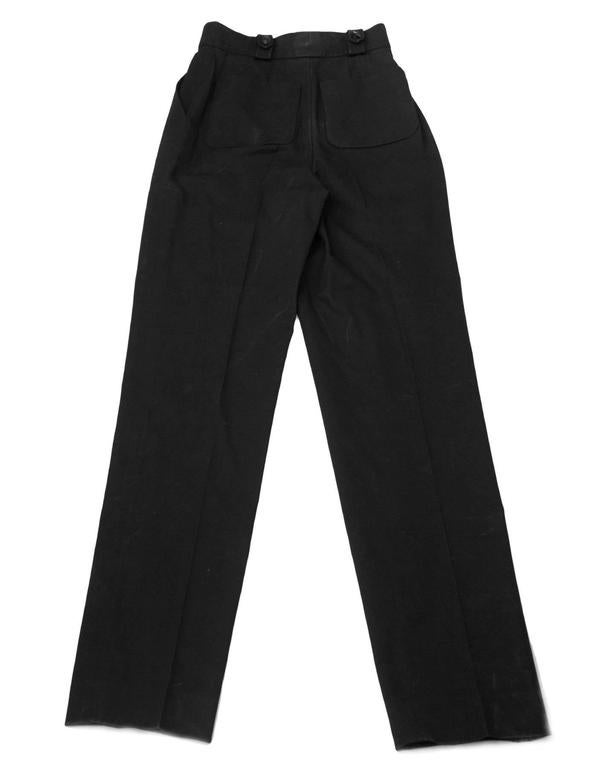 Chanel Black Cotton High Waisted Pants sz FR34 2