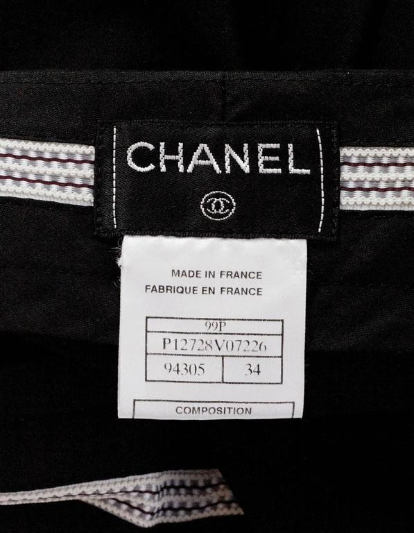 Chanel Black Cotton High Waisted Pants sz FR34 4