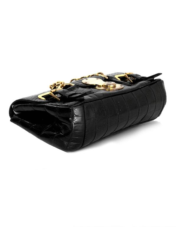 Ralph Lauren Black Alligator Ricky Shoulder Bag 5
